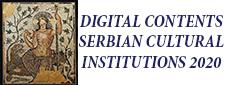 DIGITAL CONTENTS - SERBIAN CULTURAL INSTITUTIONS 2020